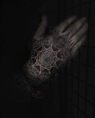 custom tattoo artists, tattooists in london, best geometric tattooists in london, deity tattoo, ornamental tattoos, spiritual tattoos, unique tattoos, lgbtqi friendly tattoo artists, hand tattoo, dotwork tattoos, mandala tattoo, mandala hand tattoo, tattoo studios near me