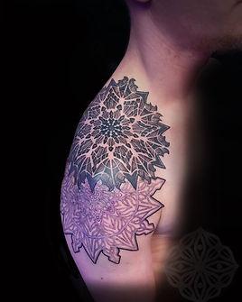 dotwork tattoos, mandala tattoos, black and grey tattoos, geometric tattoo artist in london, dotwork tattoo in london, dotwork tattooist in london, london dotwork, custom tattoo artists in london, deity tattoo, divine canvas tattoo artist, london tattooists