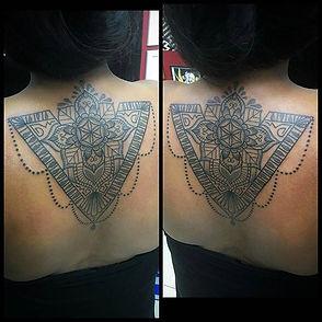 ornamental tattoo, ornamental back tattoos