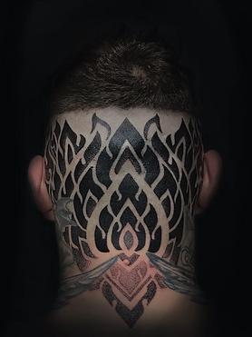 dotwork tattoo, ornamental tattoos, tattoo shop near me, best dotwork tattoo artist in london, best dotwork tattooist in brighton, deity tattoo, custom tattoo studio, geometric tattoo artist london, geometric tattoo artist brighton, dotwork tattoo artist nepal, best head tattoos