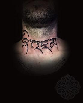neck tattoos, dotwork tattoos, dotwork tattoo artist in london, dotwork in london, dotwork in goa, dotwork throat tattoos, dotwork neck tattoo, best dotwork tattooist in london, goa tattoo convention artist, deity tattoo, divine canvas tattoo artist, Angel rose