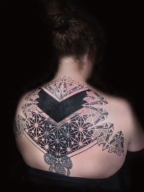 dotwork tattoo, mandala tattoo, chest tattoo, best dotwork in london, best dotwork in brighton, geometric tattoo artist in london, best geometric tattoo artist brighton, deity tattoo, custom tattoo artist near me, lgbtqi tattooist, dotwork in london, dotwork in brighton, cover up tattoos, blackwork tattoos, back tattoos