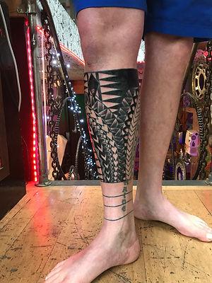 polynesian tattoos, tribal tattoos, deity tattoo, divine canvas, tribal tattoo london, work in progress, good tattoo artist in london