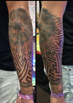 dotwork sleeve, dotwork tattoo, peaceful swastika tattoo, mandala tattoos, tattooed men, hindu tattoos, divine canvas, deity tattoo, goa, brighton, kathmandu, dotwork tattoo in london, best tattoo studios in london