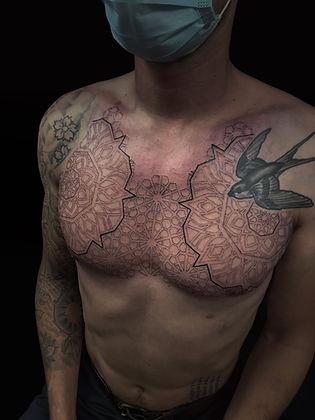 best dotwork tattoos, dotwork in london, best geometric tattoo artist in london, best geometric tattoo artist in brighton, mandala tattoo artist, tattoo studio near me, deity tattoo, mandala tattoos, men with tattoos, london tattooist, brighton tattooist