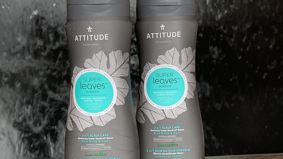 Shampoo Natural y Gel de Baño - Anticaspa 473 ml