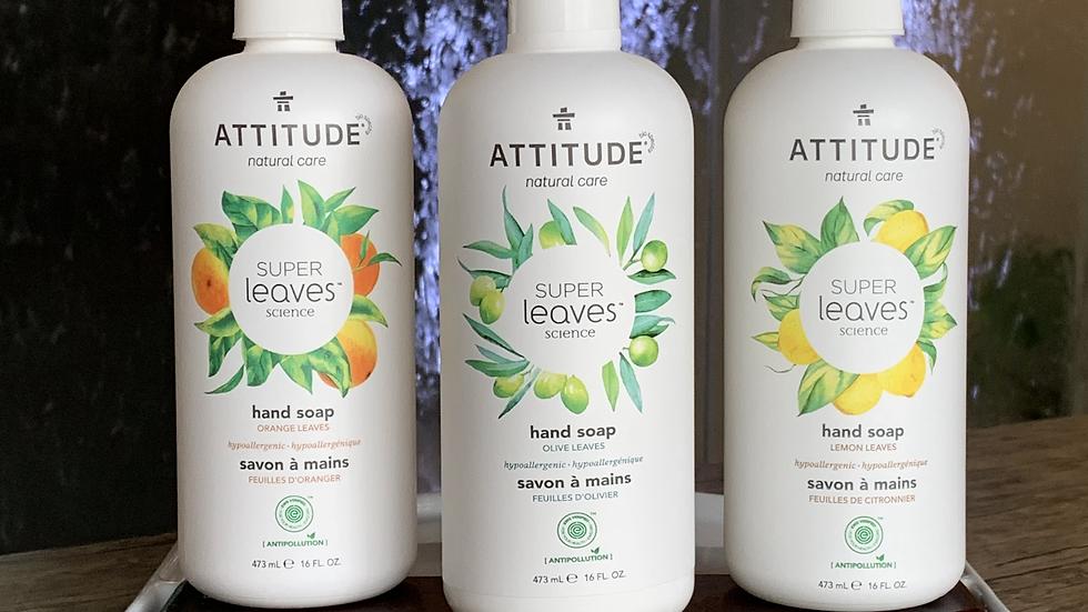 Jabón de Manos Natural Super Leaves 473ml