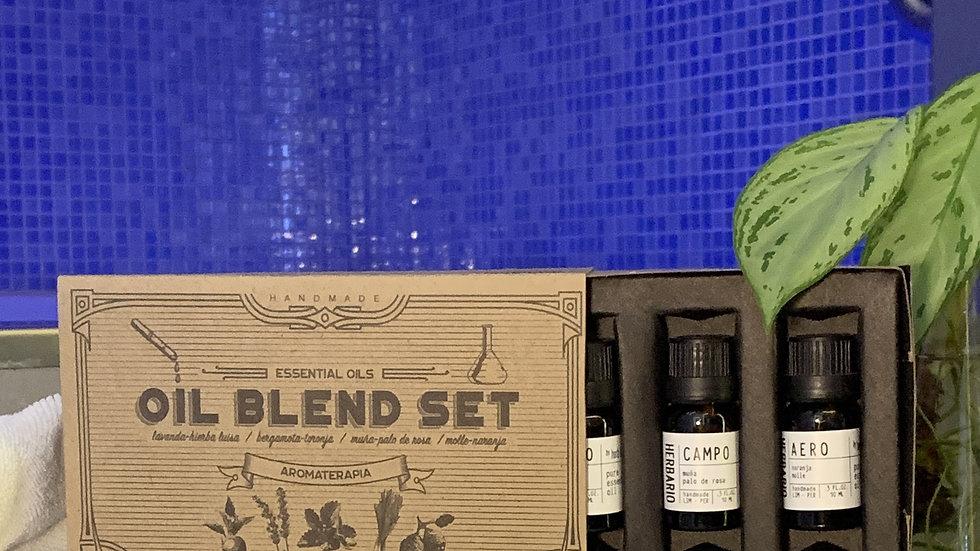 Oil Blend Set (4 aceites esenciales puros)