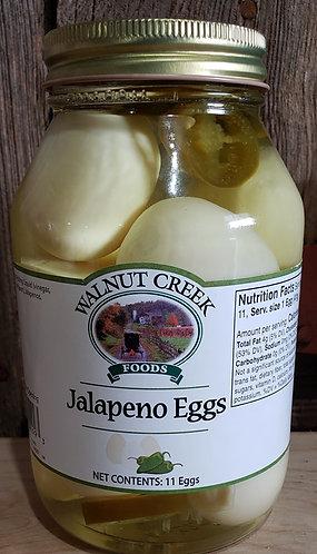 Jalapeno Eggs Pickled 11 eggs