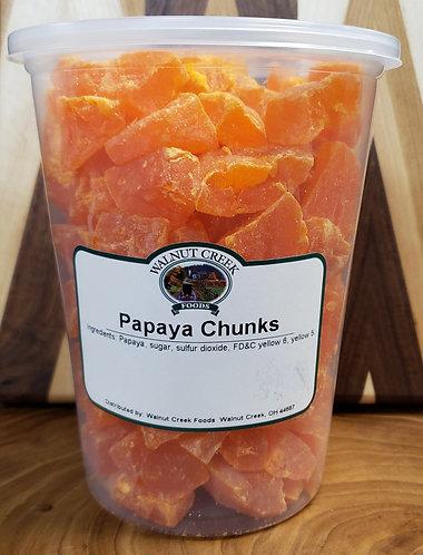 Papaya Chunks   Dried