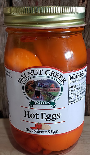 Hot Eggs  Pickled