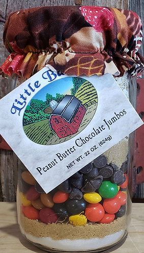 Little Barn Peanut Butter Chocolate Jumbos Cookie Mix in a Jar