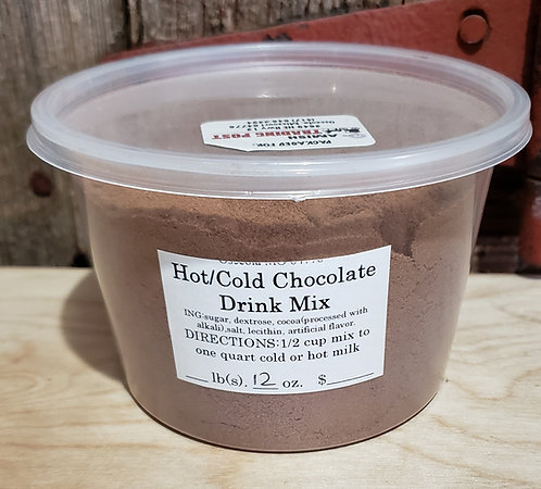 Instant Chocolate Milk Mix  Hot or Cold