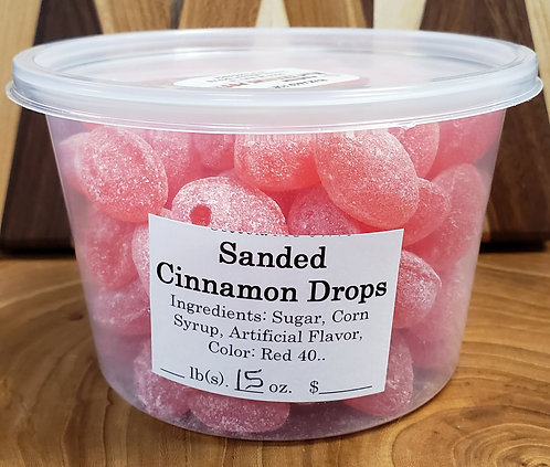 Sanded Cinnamon Drops