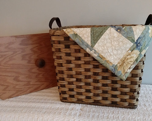 Knitting Basket with Lid
