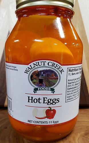 Hot Eggs  Pickled