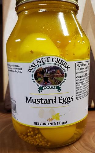 Mustard Eggs  Pickled
