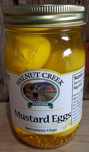 Mustard Eggs  Pickled 5 eggs