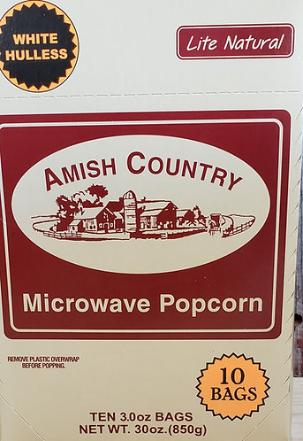 Popcorn  White Hulless  Lite Natural (Microwavable)