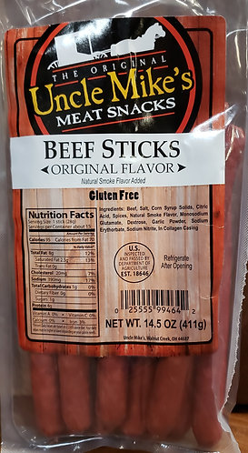 Meat Snack Sticks   Original Flavor