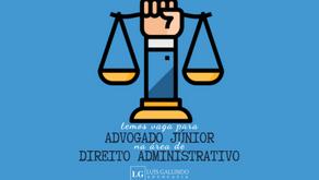 Vaga para Advogado Júnior - Direito Administrativo