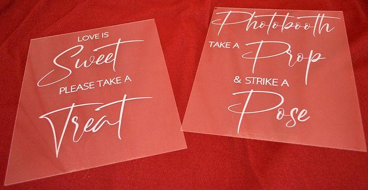"10"" x 8"" Acrylic Table Wedding Signs"
