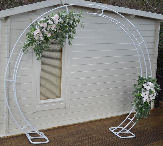 Circular White Wedding Arch