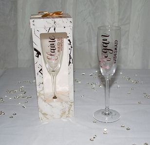 Personalised Champage Glasses