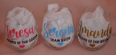Bridal Party Personalised Glasses