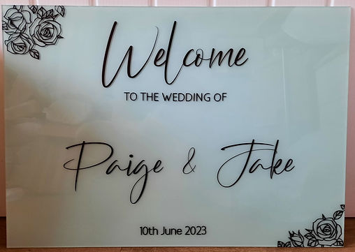P&J Welcome Sign