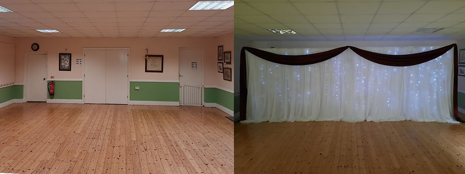 Before and After Venue Backdrop