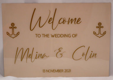A2 and A3 Acrylic Wedding Signs
