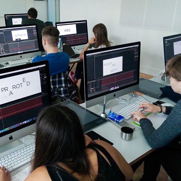 Motion Design workshop at HfG Schwäbish Gmünd, Germany