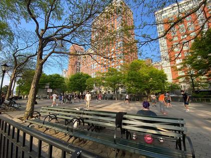 Basquete no parque