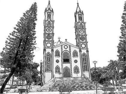 Desenho do Santuário da Penha, datado de 2016