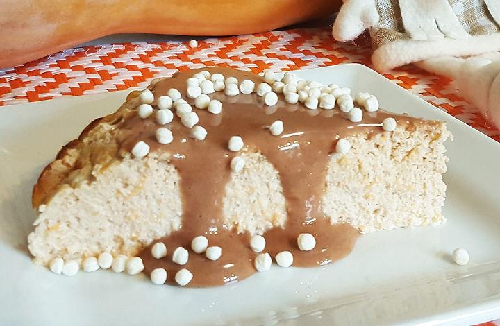 cheesecake saudável proteico de abóbora