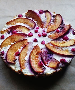 receita fitness tarte iogurte e pessego