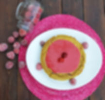 bolo de morangos e batata doce