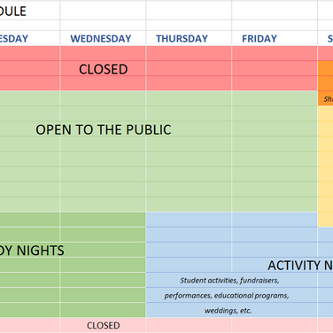 Proposed Biodome Weekly Schedule.PNG
