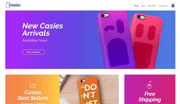 Online Store website templates – Mobile Accessories Store
