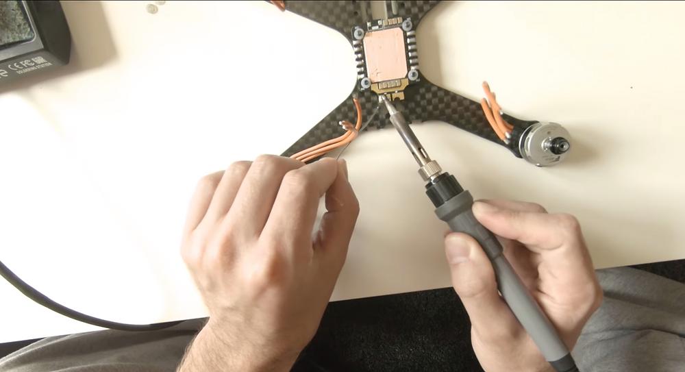 Vorbereitung Lötstelle XD60 Stecker