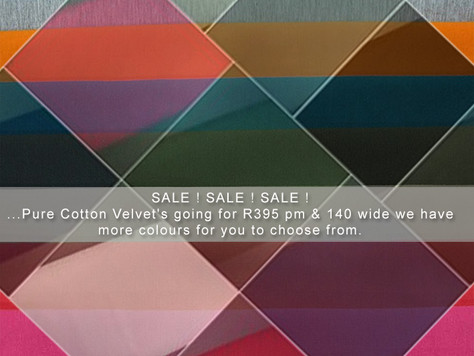 Pure Cotton Velvet's