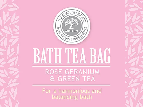 Rose Geranium & Green Tea Bath Tea Bag