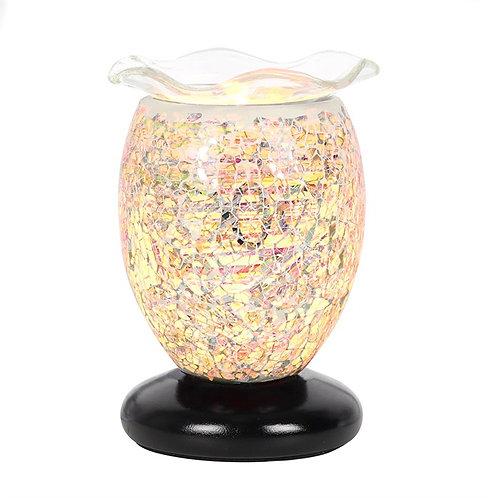 Cream Marbled Glass Electric Wax Burner