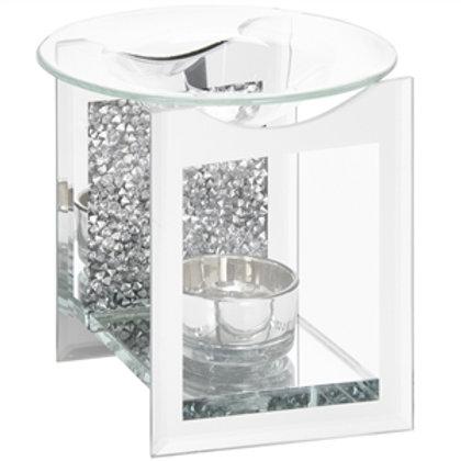 Diamante Crystal Glass Wax Burner