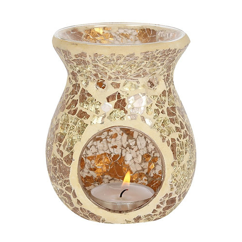 Gold Crackle Wax/Oil Burner