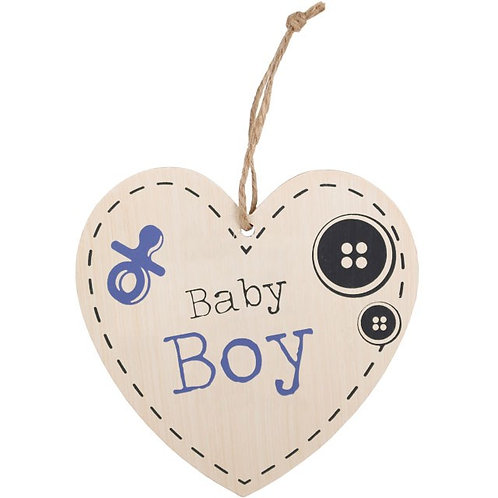 Baby Boy Hanging Heart