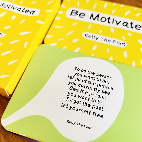 Be Motivated Affirmation Cards