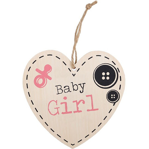 Baby Girl Hanging Heart