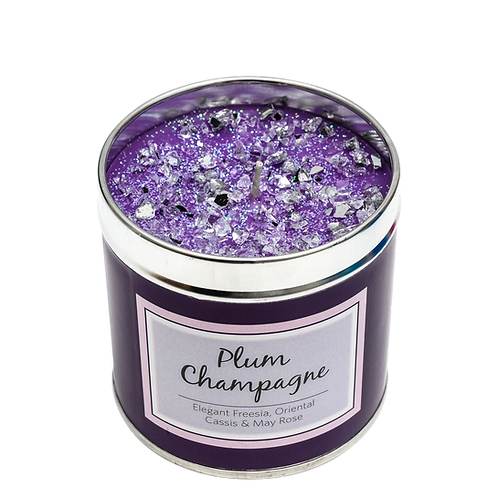 Plum Champagne Candle